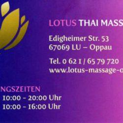 Thaimassage in Ludwigshafen-Oppau